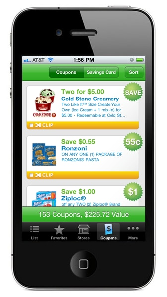 Iphone coupon app grocery