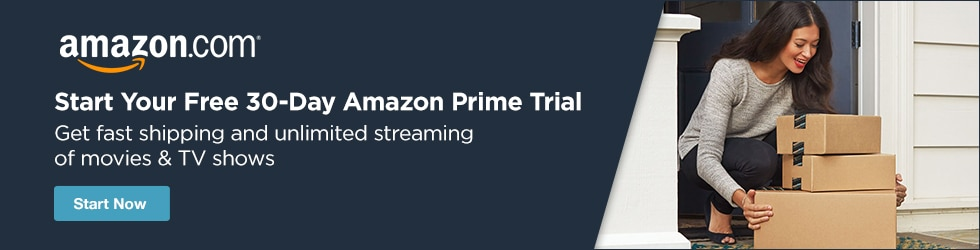 Amazon - Free 30-day Amazon Prime Trial: Unlimited Streaming of thousands of Movies & TV Shows