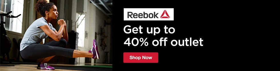 Reebok - Save up to 40% Off Outlet Apparel