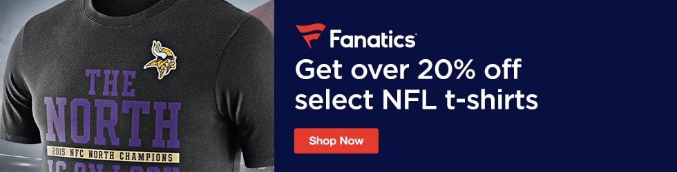 Fanatics.com - Save Over 20% Off Select NFL T-Shirts