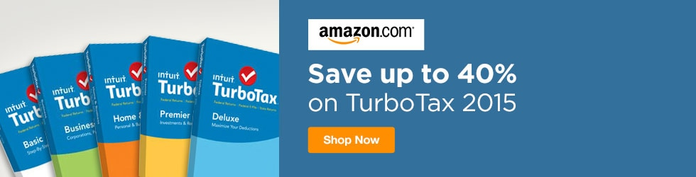 Amazon - Up to 40% off TurboTax 2015
