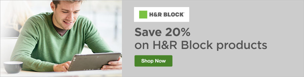H&R Block - Save 20% Off H&R Block Products