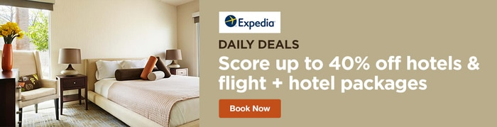 Expedia - Daily Deals! Score up to 40% off Hotels and Flight + Hotel Packages