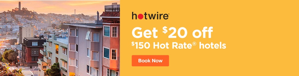 Hotwire - Save $20 off $150 Hot Rate® Hotels