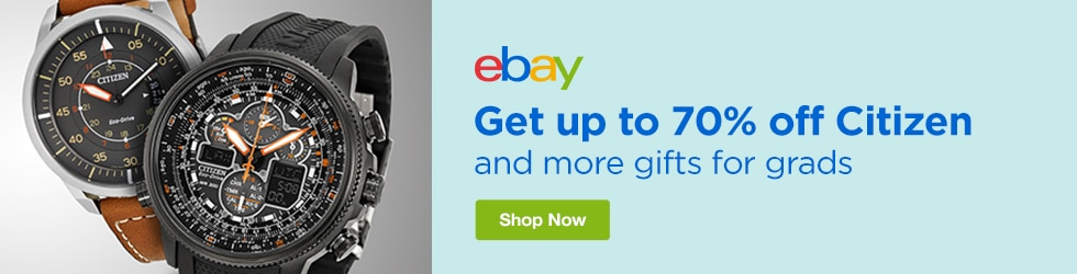 eBay - Save up to 70% off Citizen and More Gifts for Grads