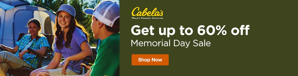 Cabelas - Save Up to 60% Off Memorial Day Sale