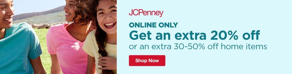 jcpenney - Online only: Save an Extra 20% Off or an Extra 30-50% Off Home Items