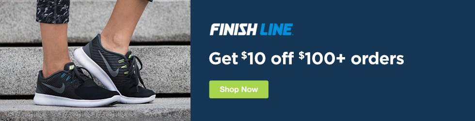 Finish Line - Save $10 Off $100+