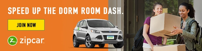 Zipcar - Speed up the dorm room dash! Join Zipcar on your campus today and get $25 Free Driving Credit