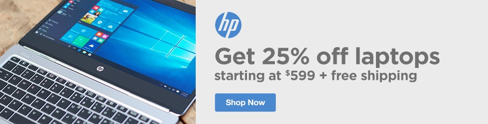 HP - 25% Off $599+ Laptops with Free Shipping