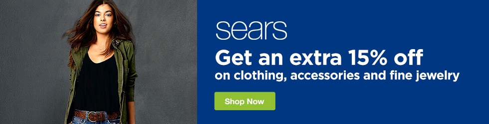 Sears - Extra 15% Off Clothing, Accessories, and Fine Jewelry