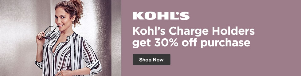 Kohls - Save 30% off Kohl's Charge Holders