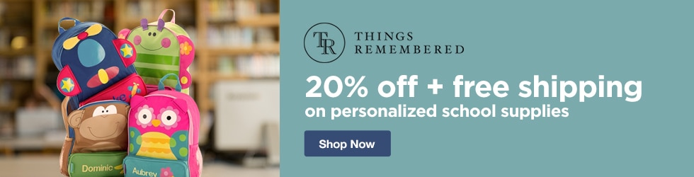 Things Remembered - 20% Off + Free Shipping On Personalized School Supplies
