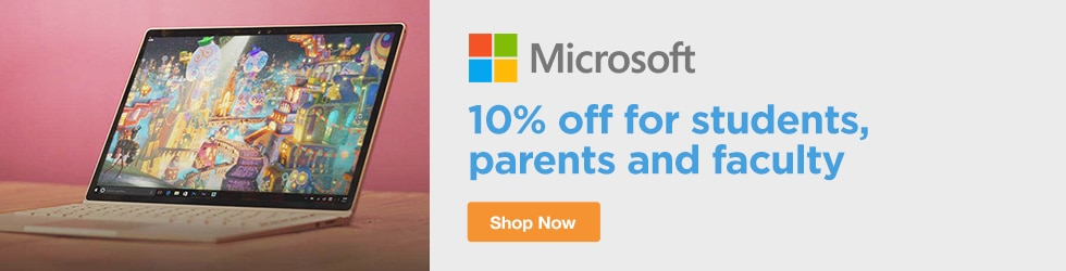Microsoft Store - 10% Off for Students, Parents and Faculty