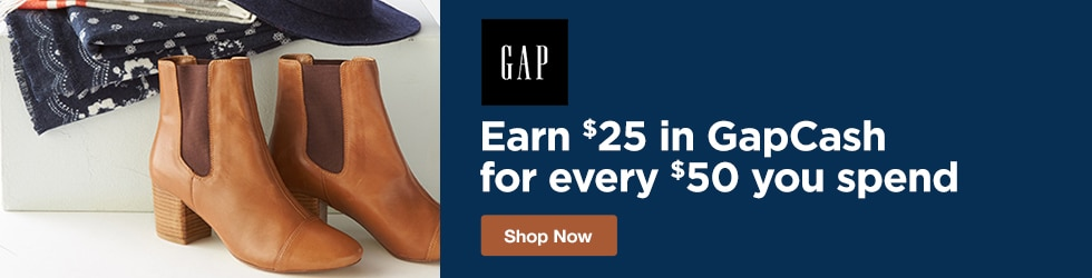 Gap - Earn $25 in GapCash for Every $50 You Spend