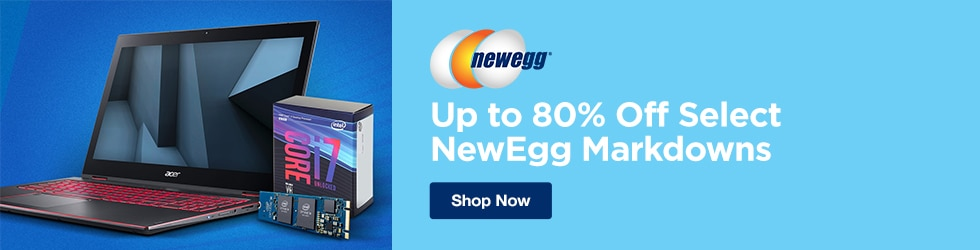 Newegg - Up to 80% Off Select NewEgg Markdowns