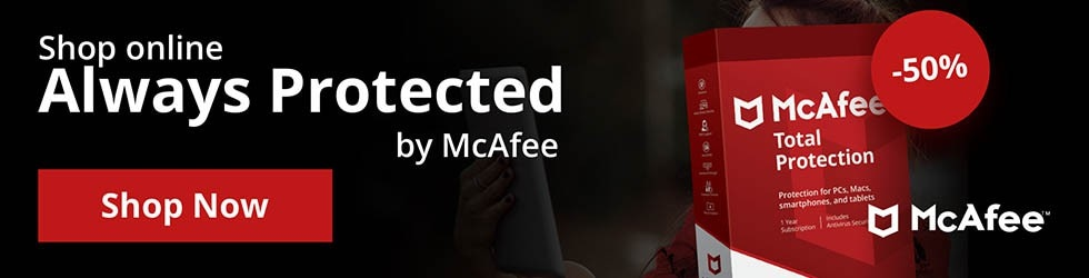 McAfee UK - Save 50% off Total Protection