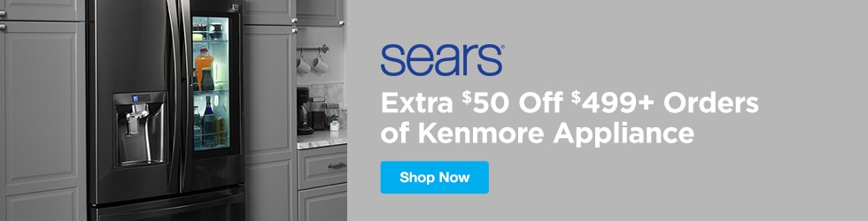 Sears - Extra $50 Off $499+ Orders of Kenmore Appliance