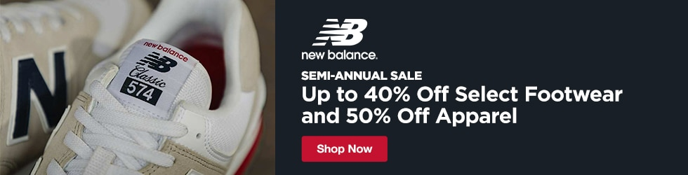New Balance - Semi-Annual Sale: Up to 40% Off Select Footwear and 50% Off Apparel