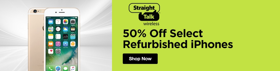 Straight Talk - 50% Off Select Refurbished iPhones