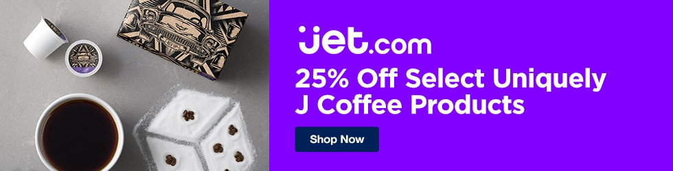 Jet.com - 25% Off Select Uniquely J Coffee Products