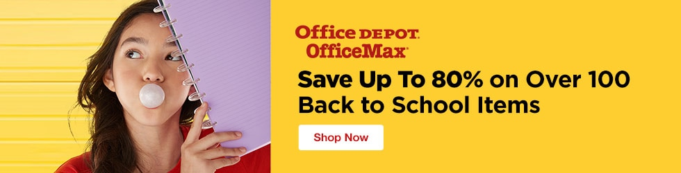 Office Depot and OfficeMax - Save Up To 80% On Over 100 Back to School Items