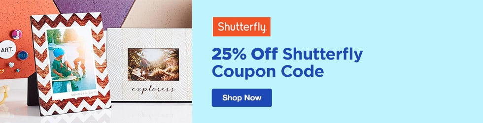 Shutterfly - 25% Off Shutterfly Coupon Code