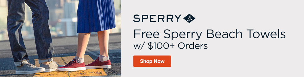Sperry - Free Sperry Beach Towels w/ $100+ Orders
