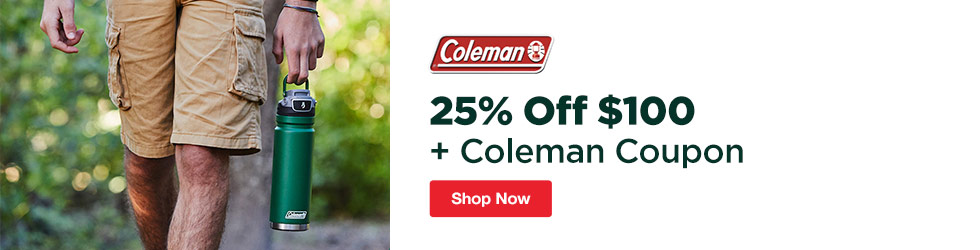Coleman - 25% Off $100+ Coleman Coupon