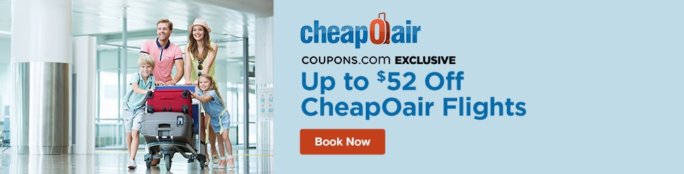 CheapOair - Exclusive! Up to $52 Off CheapOair Flights
