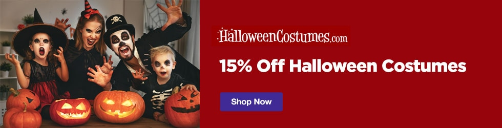 HalloweenCostumes.com - 15% Off Halloween Costumes Coupon
