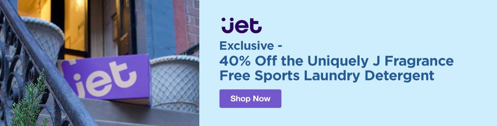 Jet.com - Exclusive - 40% Off the Uniquely J Fragrance Free Sports Laundry Detergent