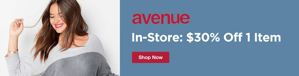 avenue.com - In-Store: 30% Off 1 Item