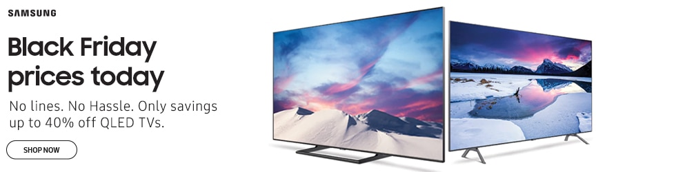 Samsung - Black Friday price today - Get up to 40% off select QLED TV's + Free Shipping