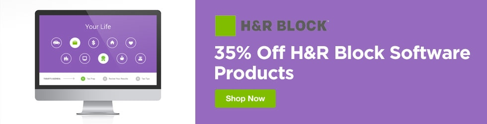 H&R Block - 35% Off H&R Block Software Products