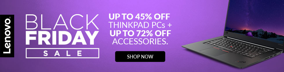 Lenovo - Up to 45% Off ThinkPad PCs + Up to 72% Off Accessories Lenovo Black Friday Sale