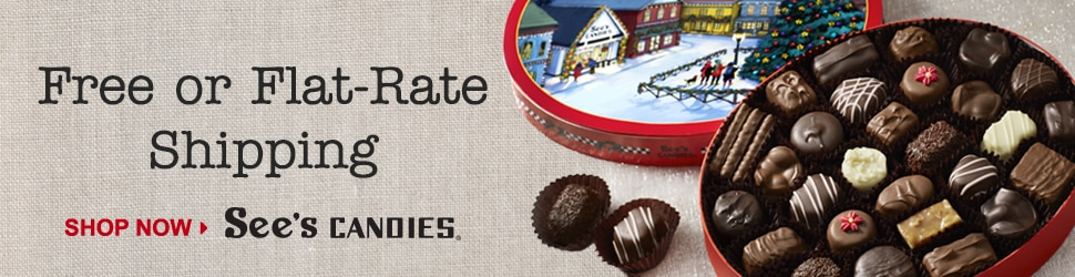 Sees Candies - Free Shipping on $65+ Orders and $5 Flat-Rate Shipping on $35+ Orders
