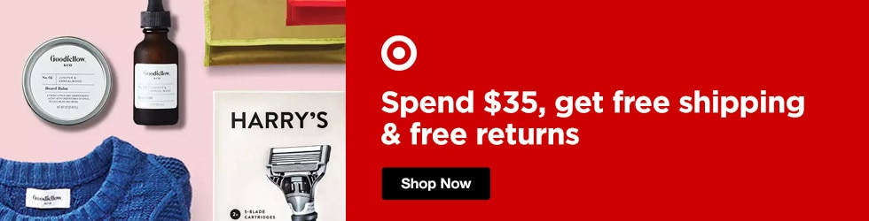 Target - Spend $35, get free shipping & free returns