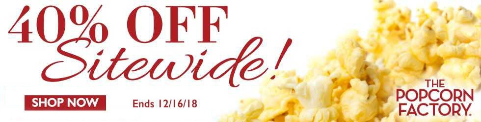 The Popcorn Factory - 40% Off Popcorn Factory Coupon