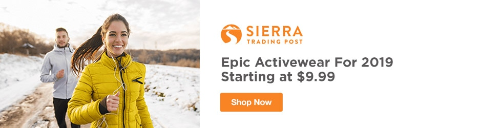 Sierra Trading Post - Epic Activewear For 2019 Starting at $9.99