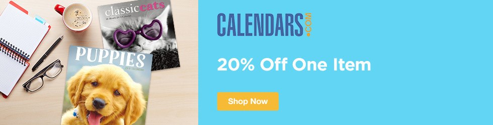 Calendars.com - 20% Off One Item