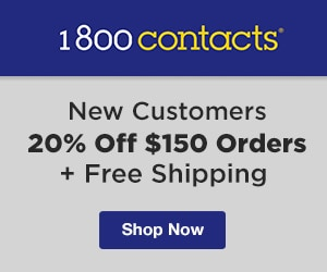 1800contacts new customers 20 off 150 orders free shipping