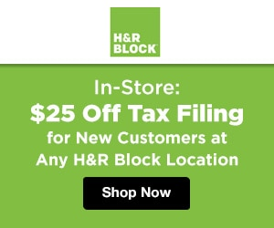 hr block tax in store 25 off tax filing for new customers at