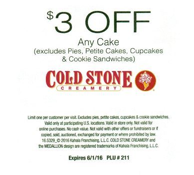 15 Off Cold Stone Creamery Coupon Offers Retailmenot