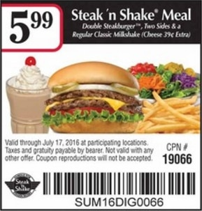 Steak and shake coupons online