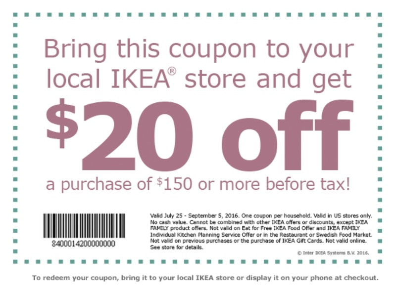 Ikea coupon promo codes february 2017 for Coupon mobile ikea