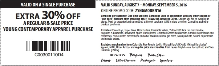 Bon ton coupon code