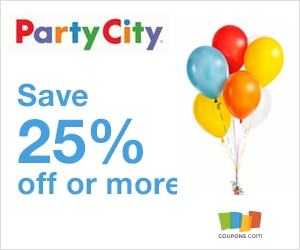 Get in a festive mood with party supplies that are ideal for any milestone from Party City. Register your email address to save 15% on items that can make your gatherings more fun, including balloons, themed tableware and personalized banners.