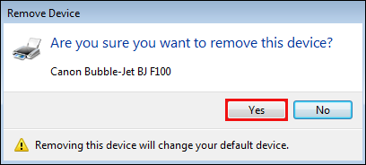 How do I uninstall and re-install my printer device on Windows?
