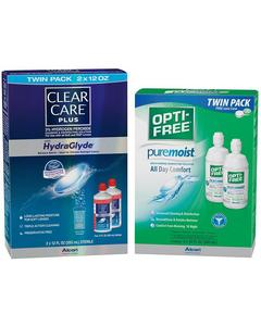 OPTI-FREE® or CLEAR CARE® TWIN PACK